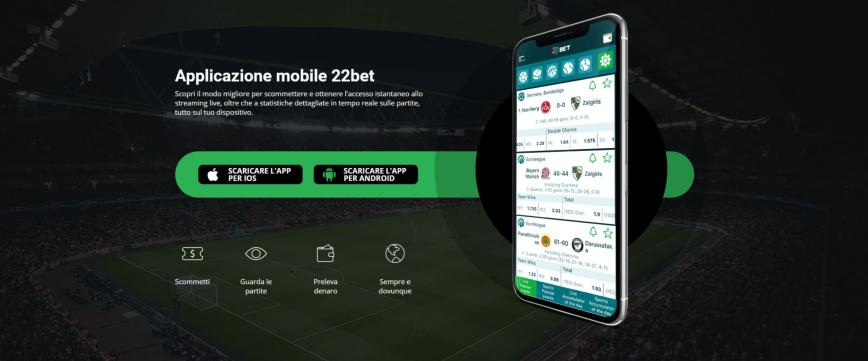 22Bet per Android e iPhone