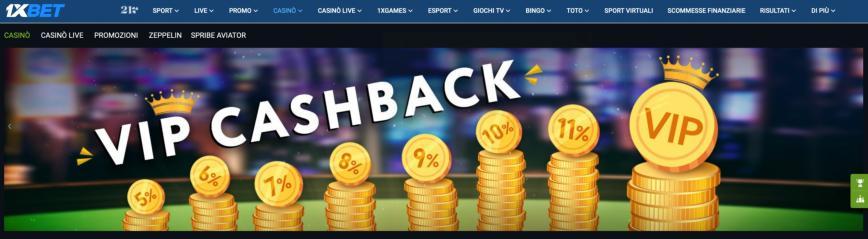 1xBet Cashback