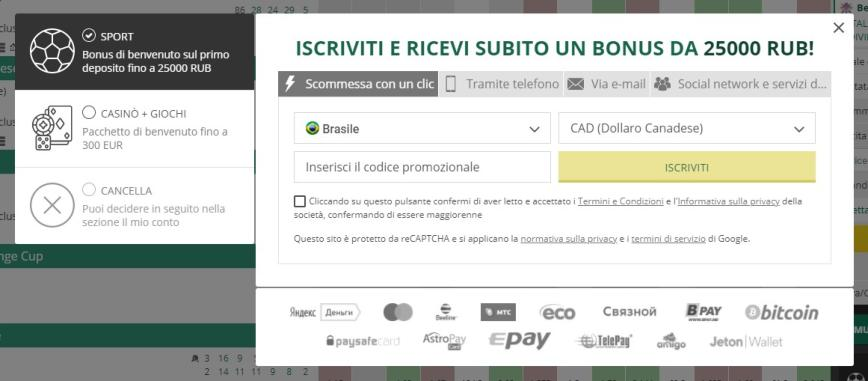 Come ci si registra al sito di Betwinner?