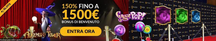 Bonus di benvenuto Enzo Casino