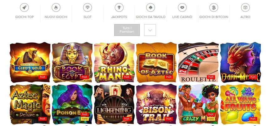 Tutti i giochi da casinò di Loki Casino