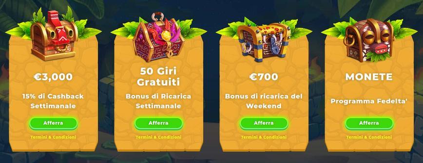 Quali sono i bonus presenti su Wazamba?