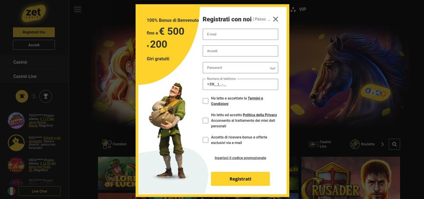 Come ci si registra a Zet Casino?