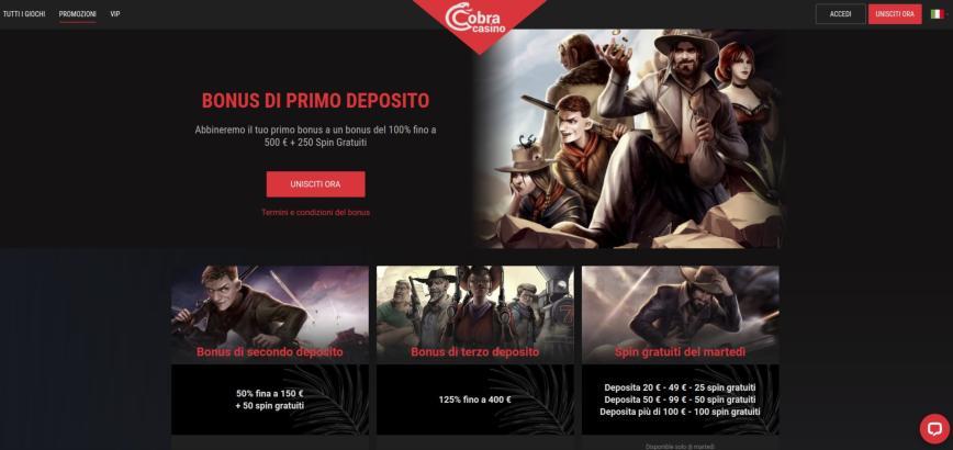 Cobra Casino promo