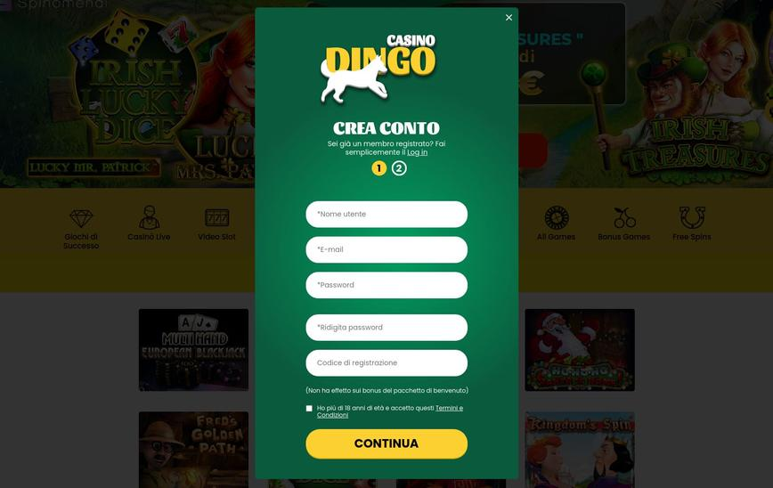 Come ci si registra a Dingo Casino?