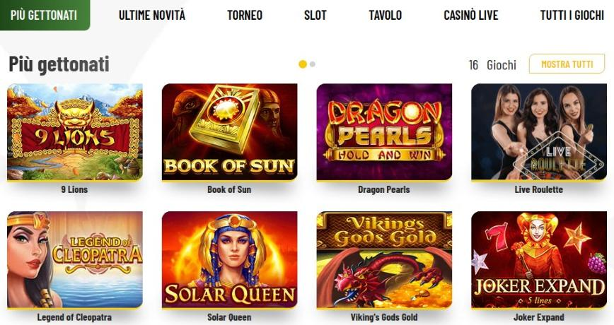 Tutti i giochi da casinò di Machance Casino
